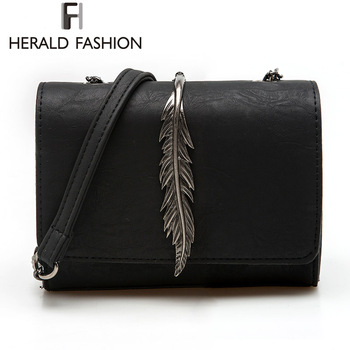 Herald fashion leaves decorated mini flap bag suede pu leather small women shoulder bag chain messenger.jpg 350x350