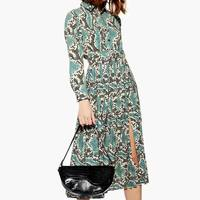za 2019 summer Women animal print maxi dresses Belted snake print long dresses vestidos Dress one piece vestidos