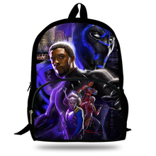Black Panther Backpack Young Women Men Travel Bags Teenager Boys Girls School Children Kids Best Gift