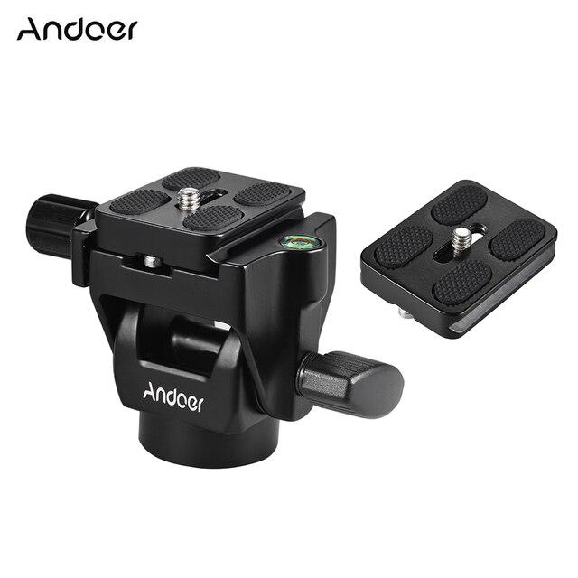 High Quality Quick Release Plate Andoer M-12  Monopod Tilt Head Panoramic Head Telephoto Bird Watching 1