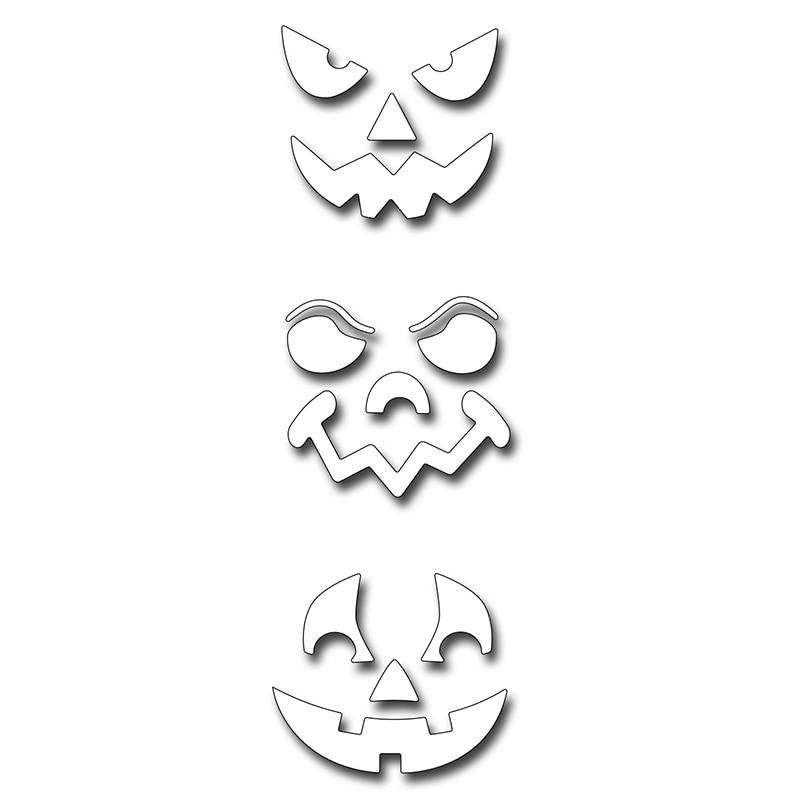 Halloween Vivid Face Metal Cutting Dies Stencils For DIY