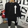 Muchachos que arropan el sistema 2 unidades + pantalones ocasionales barato ropa para niños bebé niño niños traje de tamaño 3 ~ 7 años