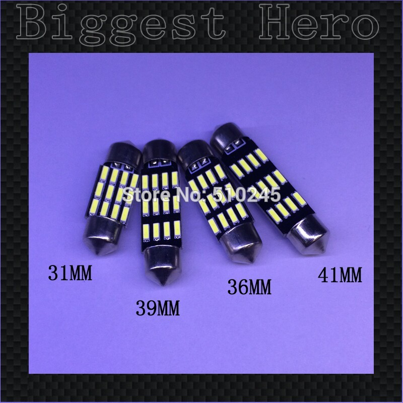 100x Big sales Wholesale Car led festoon 31MM 36MM 39MM 41MM light c5w 12 SMD led