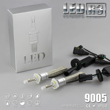 9600lm 9005 HB3 H10 White 6000K Car LED Headlight Kit Driving Lamp Foglight 80W Bulb Copper Belt Without Thermal Resistance