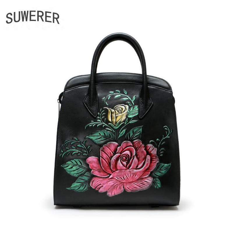 2018 New Women Genuine Leather bag luxury handbags women bags designer fashion Painted embossing Cowhide women bags handbags 2016 new luxury handbags women bags designer quality embossing fashion luxury women genuine leather handbags