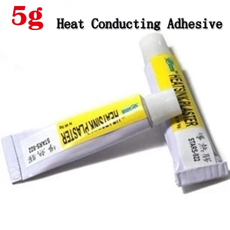 5Pcs 5g Heat Thermal Conductive Heatsink Plaster Viscous Adhesive Glue for Hip RAM LED GPU VGA IC Cooler Radiator Cooling pccooler 20pcs aluminum cooling heat sink mos chip cpu gpu vga ram led ic heatsink radiator cooler