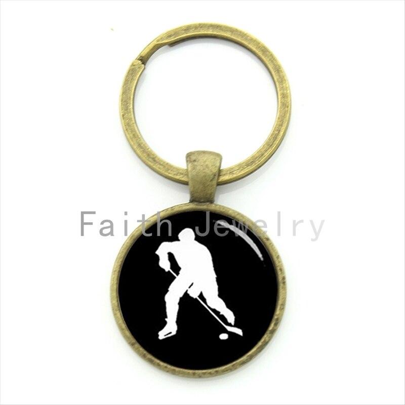 TAFREE Elegantes Eishockey Schlüsselbund Vintage Hockey Spieler - Modeschmuck - Foto 2