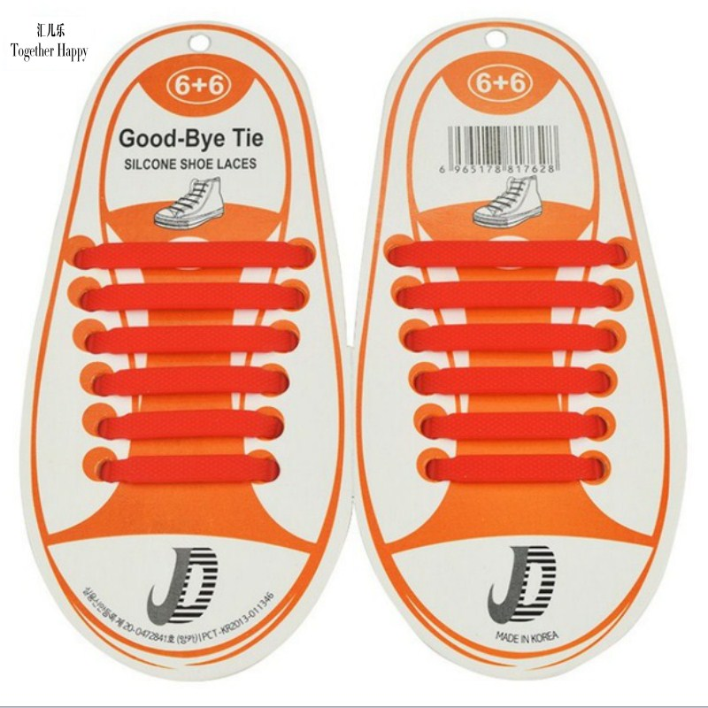2017 12Pcs/Set Summer Hot Sale Fashion Children Shoes Accessory Shoelaces Athletic Running Lazy No Tie Silica Gel Shoe Laces