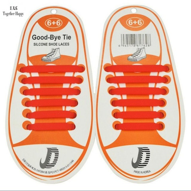 12Pcs/Set Summer Hot Sale Fashion Children Shoes Accessory No Tie Shoelaces Athletic Running Lazy No Tie Silica Gel Shoe Laces