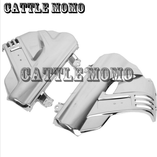 Chrome Motorcycle Front Fender Covers For Honda GL1800 GOLDWING 2006 2007 2008 2009 2010 2011 2012 2013 Motorbike Fender Covers for yamaha yzfr6 yzf r6 2006 2007 2008 2009 2010 2011 2012 2013 2014 motorcycle engine stator cover chrome left side