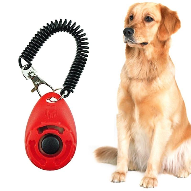 4 Pcs Pet Puppy Vogel Kat Hond Knop Klik Clicker Training Gehoorzaamheid Hulp + Wrist Band Licht Gewicht