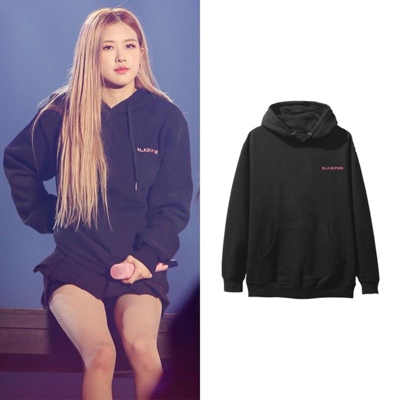 BLACKPINK Album ROSE women hoodies sweatshirt printed causal top spring Autumn long sleeve hoody sweatshirts sweatshirt