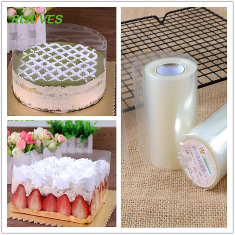 DIY Cake Baking Clear Surrounding Edge Wrapping Tape Mousse Roll of Cake Collar