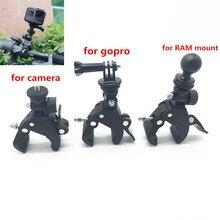 Für Gopro Zubehör Lenker Montieren Stativ Adapter Bike Fahrrad Motorrad 1 inch Ball Clamp für Gopro Ram Mount Handys