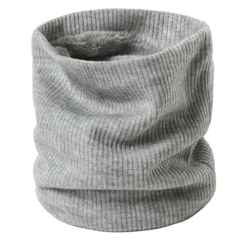 Women Knit Winter Scarf Snood Neck Plus Fur Ring Scarves Men Solid Warm Cashmere Round Collars Unisex Outdoor Scarfs