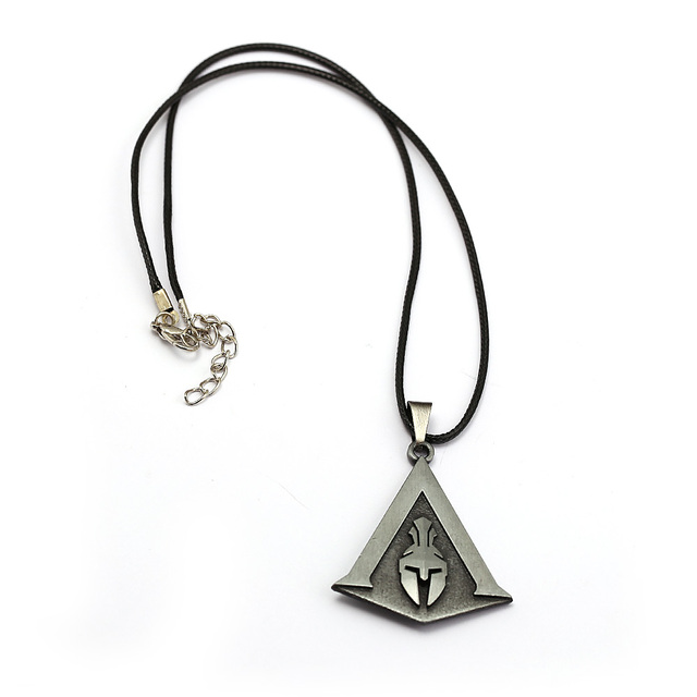 Assassin's Creed Odyssey Necklace Assassins Logo Metal Pendant Rope Chain Choker Necklaces Toy Men Charm Gifts Game Jewelry 2