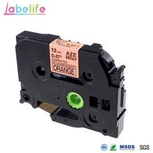 Labelife TZe-B31 флуоресцентный оранжевый 12 мм TZe стандартная клейкая маркировка ленты(Ламинированные) для Brother P-Touch PT-D200