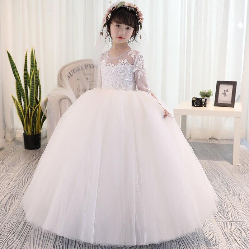 Filles vêtements fleur filles robe de mariée Tutu Maxi robe Patry robe de bal photographie soirée bal 2 3 5 8 9 10 13 14 ans