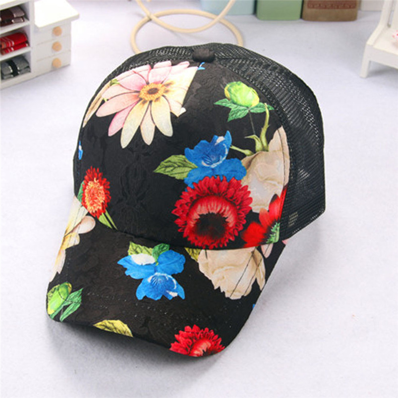 Baseball Cap Women 2018 New Summer Vintage Print Snapback Hat Hippie Hip-Hop Adjustable Casual Hat Fall Girl Wholesale #FJ13 (1)