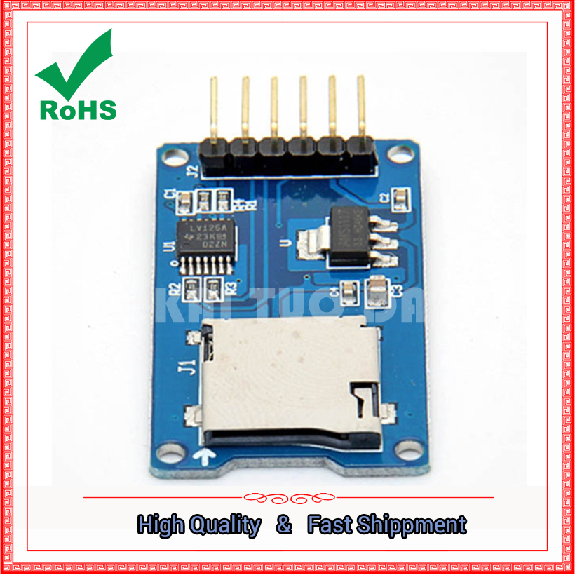 Micro SD card module TF card reader card SPI interface with level conversion chip board