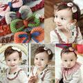 Drop& Kids Girl Baby Infant Handmade Crochet Knit Bow Headband Hair Bow Band Headwear Hot