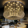 Crystal Chandeliers Modern LED Dimmable Chandelier Light Fixture 3 Light Colors Dimming Hanging Pendant Lamp Hotel