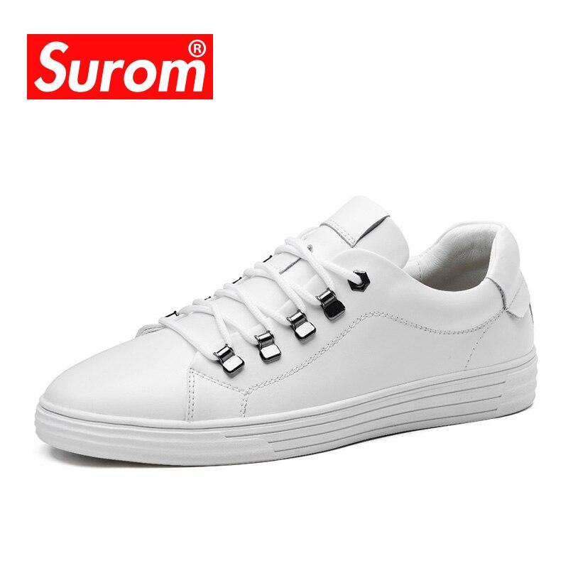 Casual Black Split Nouvelles Automne 2018 Chaussures Respirant Cuir De Baskets Krasovki blanc En Classiques Blanc White Marque Printemps Hommes Lacent Surom qX4Cp