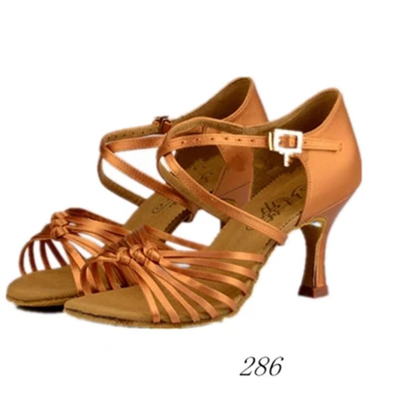 Standard Dance Shoes Brand Party Ballroom Ladies Aerobics Shoes Högkvalitativa Modern Women Sneakers Brown Slip-On Coupons HB 286