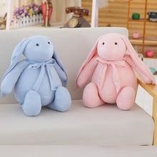все цены на 40/50 Cm Soft Long Ear Rabbit Plush Toy Stuffed Cute Rabbit Doll For Baby Sleeping Bed Doll Lovely Birthday Gift For Kids онлайн