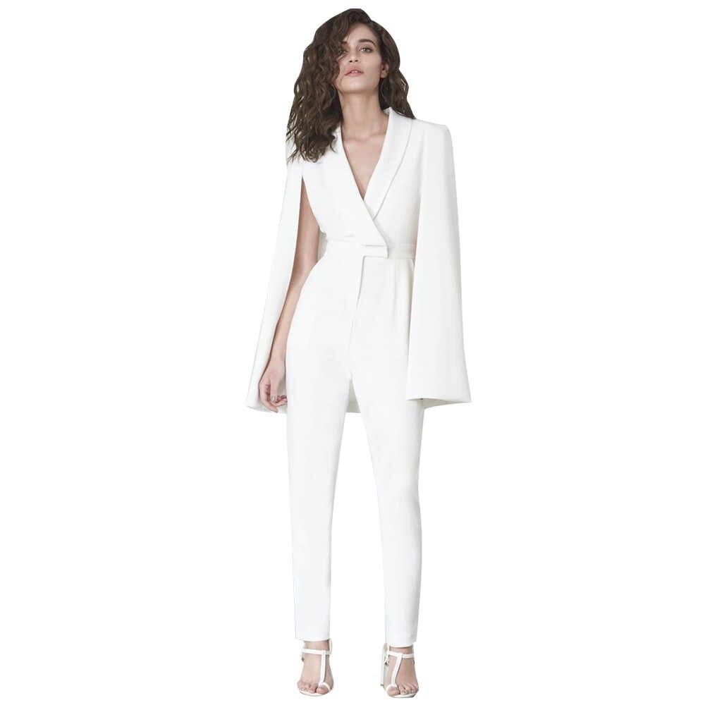 4c5d4771fe4e Elegante mujer Mono Blanco chal Kimono Tops pantalones largos monos ...