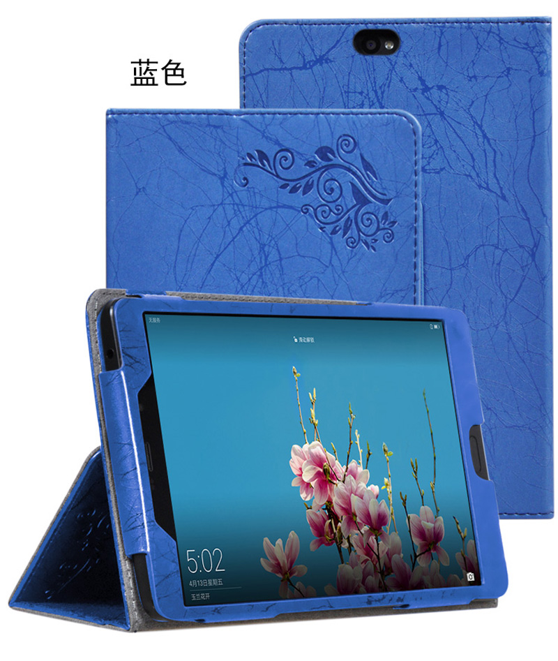 Luxury Print Flower Flip Book Skin Cover Stand PU Leather Funda Case For Cube ALLDOCUBE X1 T801 8.4 inch Tablet with Hand Strap flip left and right stand pu leather case cover for blu vivo air