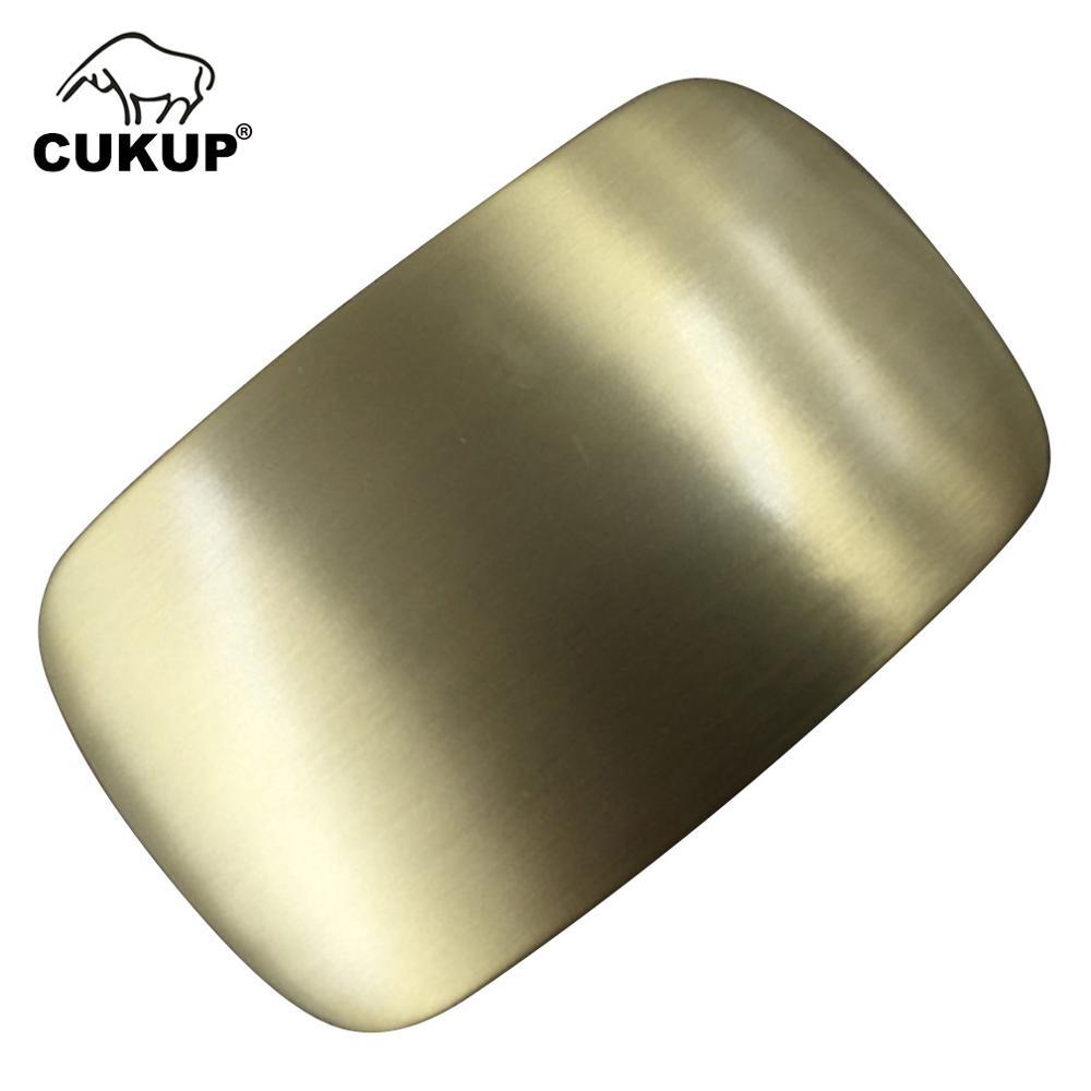 CUKUP New Men Geometric Ellipse Pattern Brass Belt Buckle 3.8cm Smooth Style Fashion Youth Wind Belt Buckle Wholesale BRK013