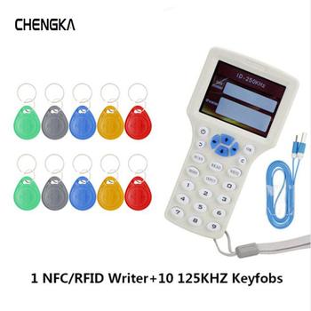 Angielski 10 częstotliwości RFID kopiarka hotelu ID IC czytnik kopiarki M1 13 56 MHZ szyfrowane powielacz programista USB NFC UID tag klucz karty tanie i dobre opinie CHENGKA 08cd