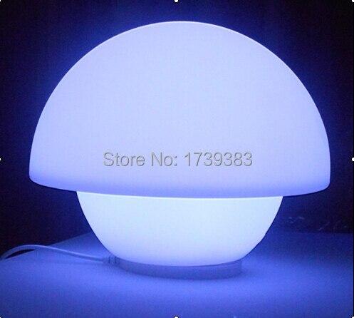 6pcs/lot  Rechargeable waterproof LED Mushroom lamp Glowing Remote control Umbrella Table lamp LED Desk Lamp Light