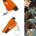 3 em 1 Mini Car Janela Disjuntor Martelo de Segurança de Emergência ferramenta separador de vidro cortador da faca da sobrevivência com Corrente navajas supervivencia