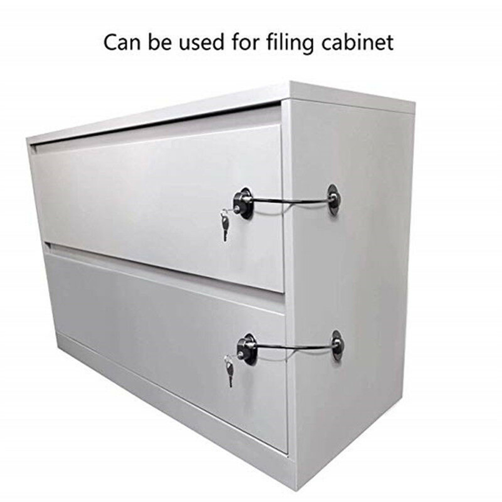 Kid's Safety Shifting Door Lock Refrigerator Door Lock With 2 Keys Fridge Freezer Child Proof Children Safety Lock
