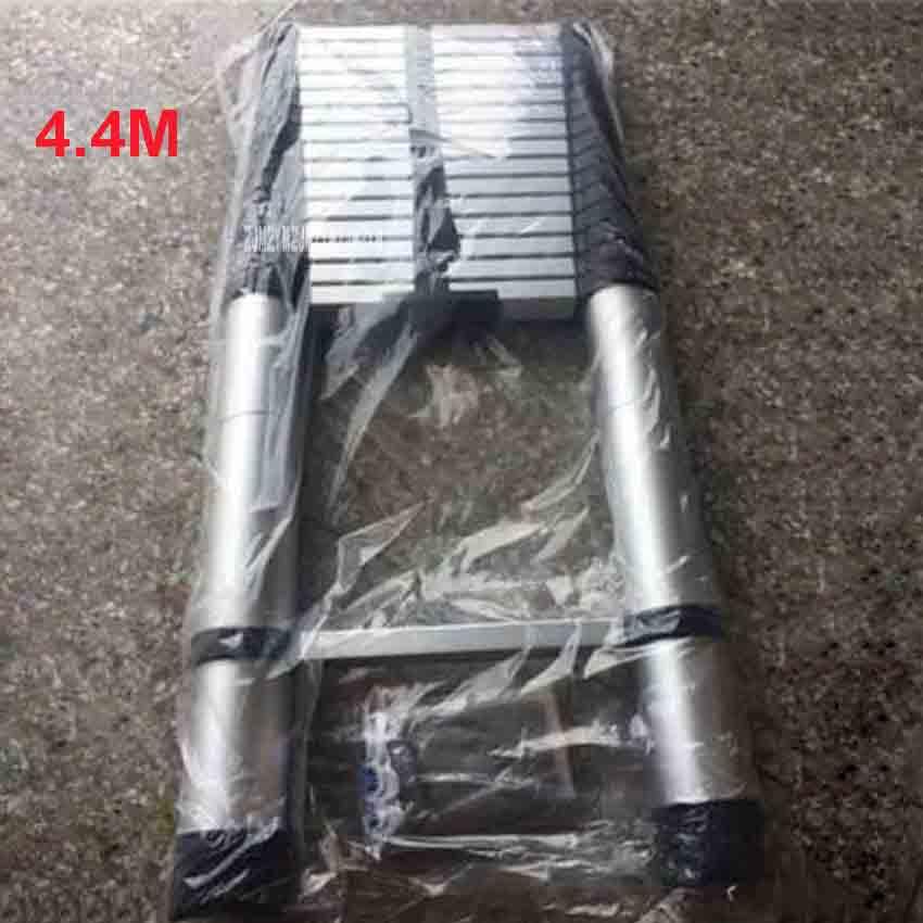 4.4 m DLT-A Doméstico Escada de Extensão Liga de Alumínio Espessamento Escada Dobrável Escada Engenharia Escada Reta Single-sided