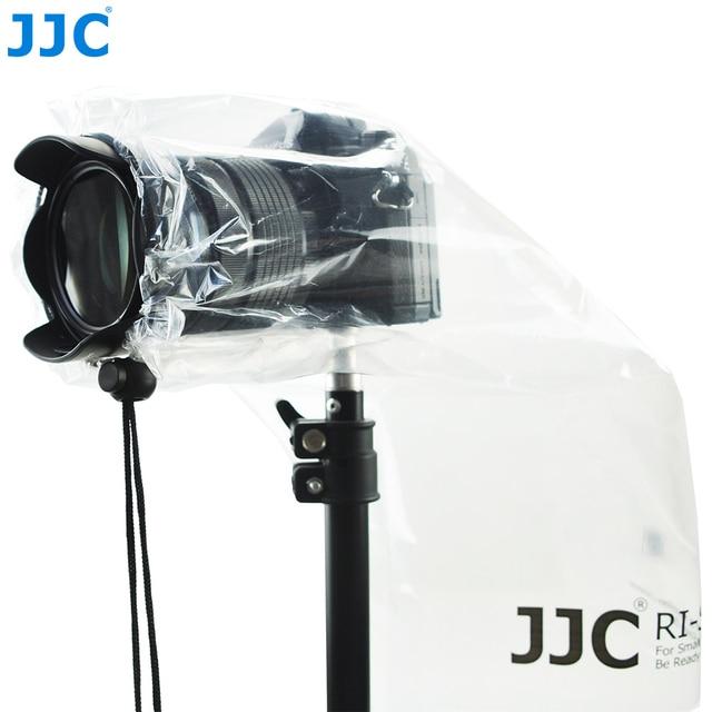 JJC 2 PCS Câmeras Mirrorless DSLR com Lente Da Câmera Capa De Chuva Pequena Capa de Chuva See-through Revestimento Lentes Prime À Prova D' Água protetor