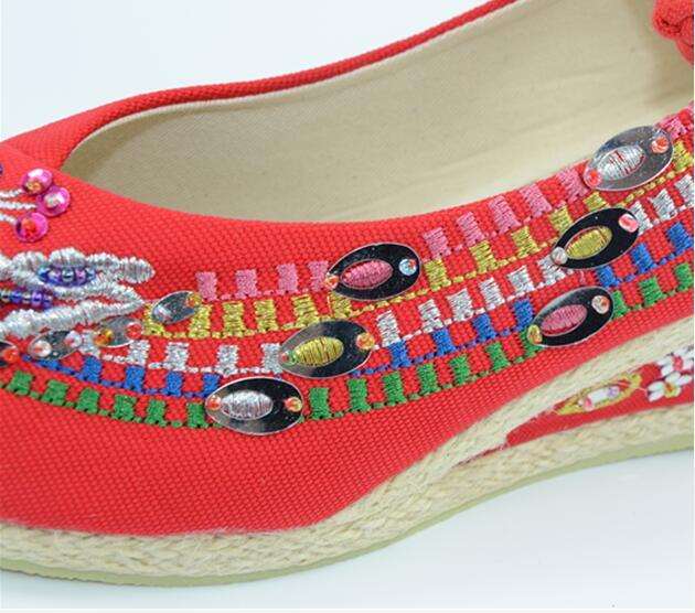Pompes Tenis Color3 Pour Photo Femmes Femme Paillettes Chaussures photo Coins Casual photo Color2 Cristal Toile Espadrilles Color1 Lolita Nouveau Broderie qTRwnxOvC