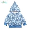 2017 Nueva Chaqueta de Abrigo de Primavera Otoño de Los Niños Chaqueta de Nieve Imprimir Baby Girl Boy Ropa Niños Sudaderas Niños Outwear Ropa