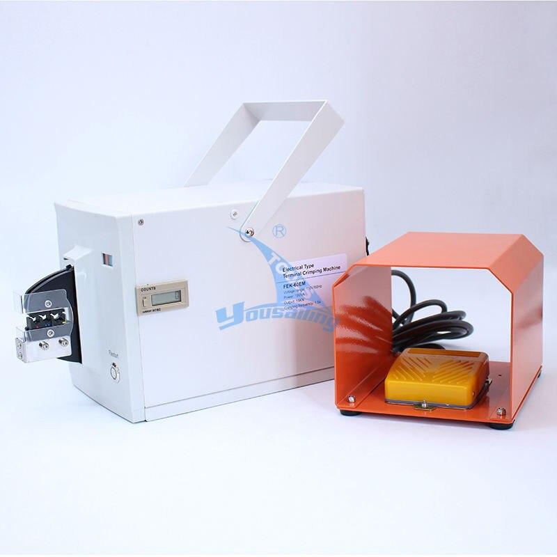 Haute Qualité FEK-60EM Type Électrique Machine de Sertissage Sertisseur Électrique pour Différents Terminaux Câble outils De Sertissage De Fil Outil