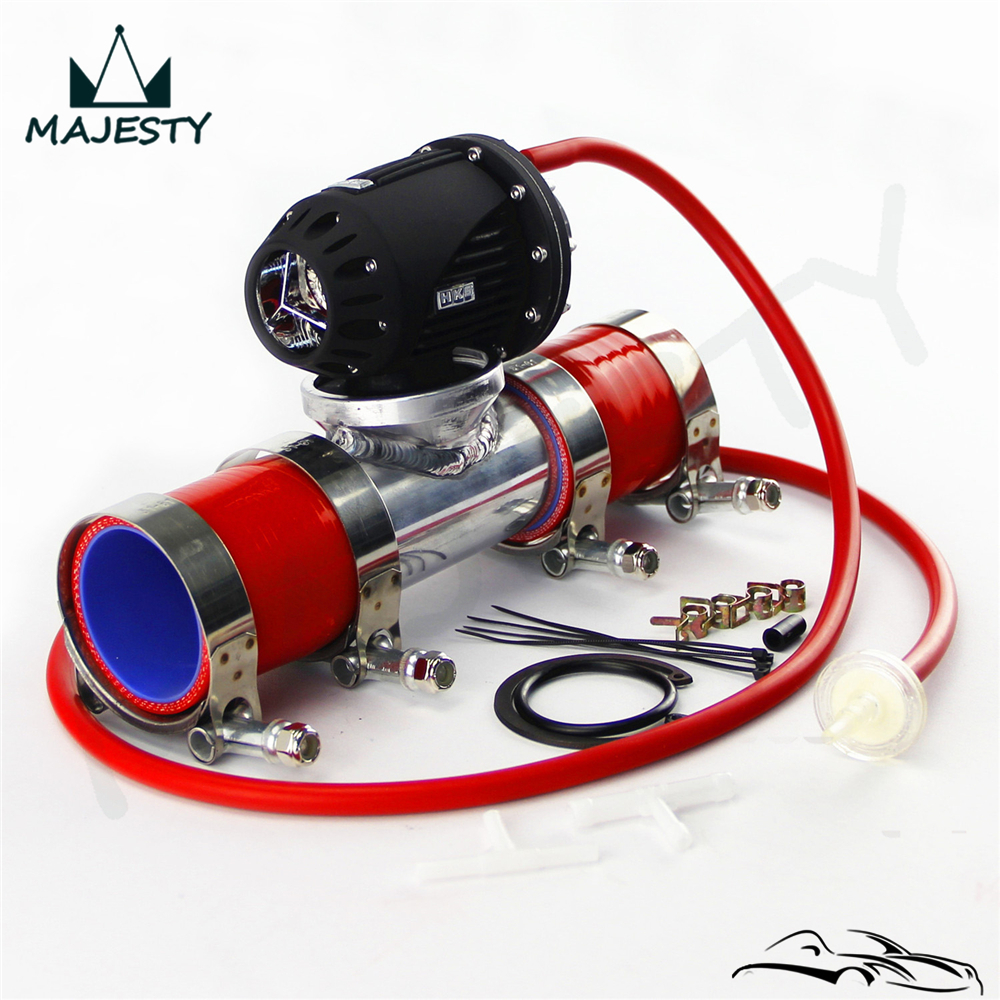 SQV Blow Off Valve BOV IV 4 +2.25 Flange Pipe+ RED Silicone Hose +Clamps kit RED