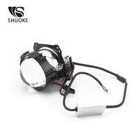 bulb 12v SHUOKE Bi-LED Projector Lens Bi LED Light Bulb Lens Reflector Collimator 12V 36W 6000LM 6000K 2.5 Inch 1 set High Low Beam (3)