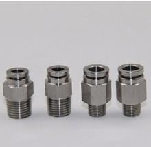 Размер трубки 14mm-3/4 PT темы пневматический нержавеющей стали 316 мужской прямой установки