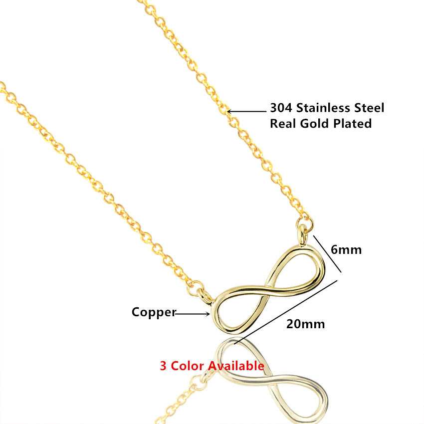 Zlato Šarm Infinity Privjesci Choker Ogrlice Za Žene Boho Nakit - Modni nakit - Foto 3