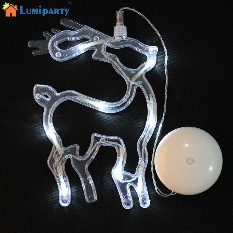 AKDSteel Лось форме теплый белый светодиодный свет Батарея работает Окно присоски лампы  ...