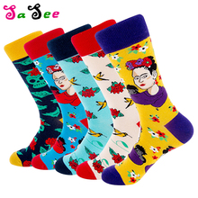 SA SEE 10 Pairs Autumn Unisex Cartoon Character Art Men Short Socks Cotton Socks