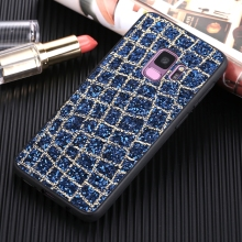Luxury Glitter Grid Line Fashion Sequins Case For Samsung Galaxy J3 2017 S8 S9 Plus J6 J5 Pro J7 Prime 2016 Soft TPU Phone Cover