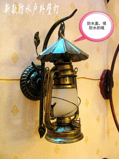 American country living room bamboo wall lights  antique vintage  kerosene  lantern wall lamps personality bedroom bedside lamp american style bedside antique wall lamp single head living room lights vintage fashion bar lamps night lamp hot free shipping