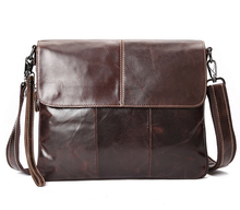 Arrived free shipping genuine leather men bag fashion men messenger bag bussiness bag male cross body shoulder bag   LJ-467